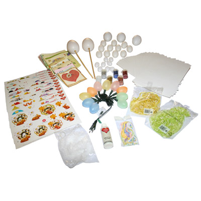Napkin technology Easter decoration-set - 117 pcs.