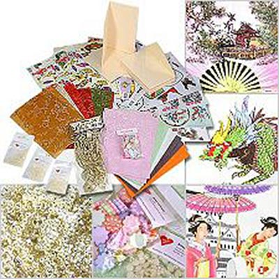 3D technology greetings card set - Asia style - 35 pcs