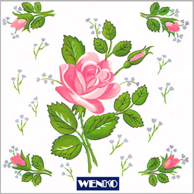 tile dekore - with rose motive