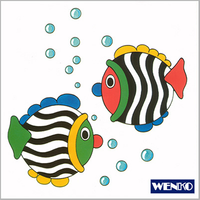 tile dekore - with fish motive