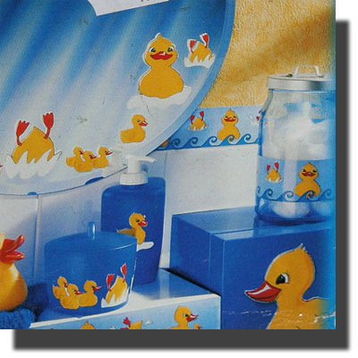 3 Wand - Sticker mit Enten - Motiv